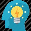 brainstorming, idea, light bulb