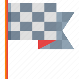 checkered flag, competition, finish, flag, start icon