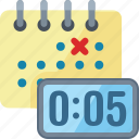 calendar, clock, meeting deadline icon