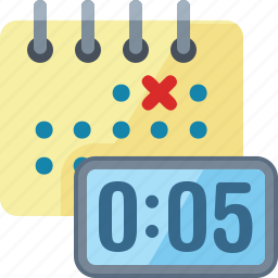 calendar, clock, deadline, meeting deadline icon