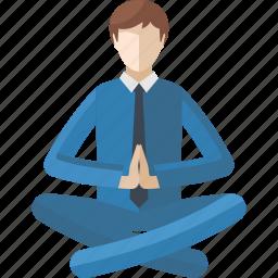 lotus position, meditation, relax, spirituality, yoga icon