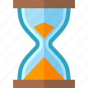 hourglass, sand clock, time management icon