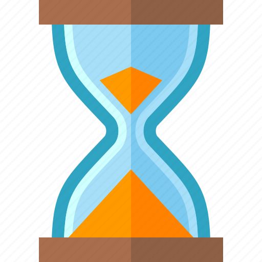 hourglass, sand clock, sand timer, time management icon