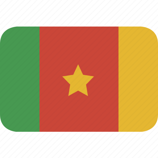 cameroon, rectangle, round icon