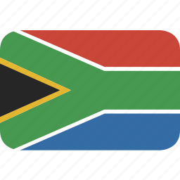 africa, rectangle, round, south icon