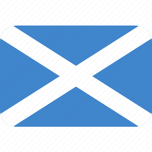 rectangle, round, scotland icon