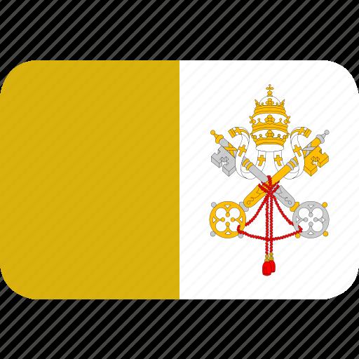 rectangle, round, vatican icon