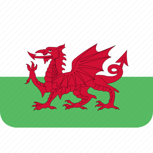 rectangle, round, wales icon