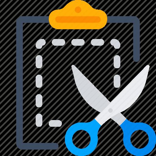 clipboard, copy, cut, office, paste, scissors icon