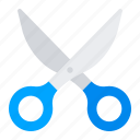 cut, office, scissors, tool icon