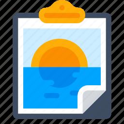canvas, clipboard, image, nature, paste, picture, sea icon