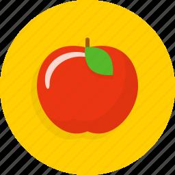 apple, fruit, knowledge, school icon