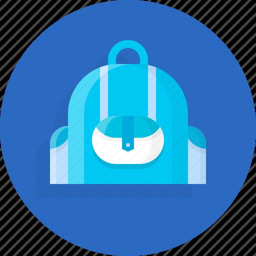 backpacks, bag, knowledge, school icon
