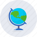 earth, geography, knowledge, school icon