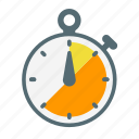 arrow, stop, timer, watch icon icon