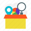 box, bundle, delivery, package, product, service, shipment icon icon