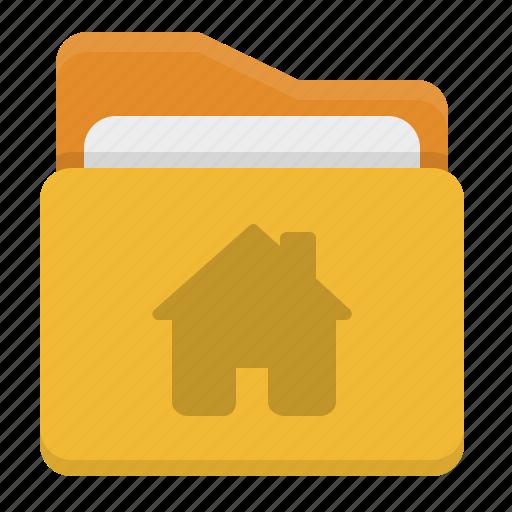 Folder, documentation, main folder, home icon