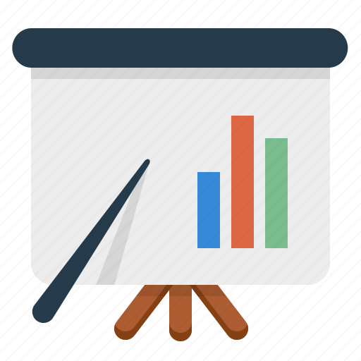 analytics, education, presentation, seo training icon