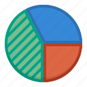 analytics, competitive, financial statistics, pie chart icon
