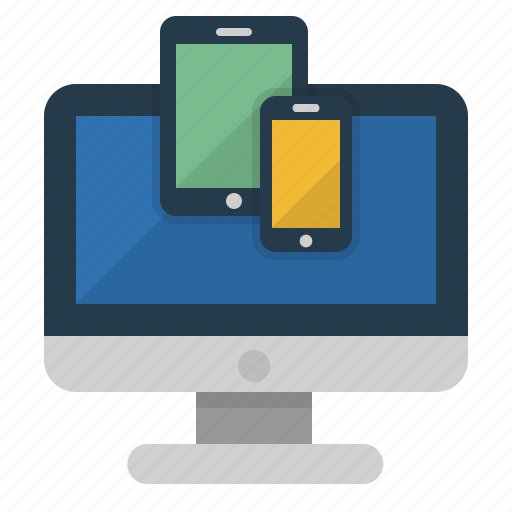computer, design, devices, mobile, responsive icon