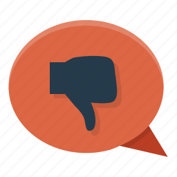 dislike, thumb down, vote icon