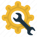 gear, maintenance, repair, settings, system icon