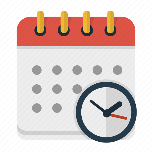 appointment, calendar, clock, time management, working schedule icon
