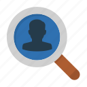 audience research, search, targeting, vacancy icon