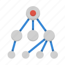 connections, hierarchy, scheme, structure icon