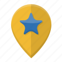 location, navigation, pin, pointer, position icon