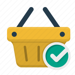 bag, basket, buy, buying, cart, check out, checkmark, checkout, complete, completed, e-commerce, ecommerce, finance, full, internet, marketing, money, online, order, package, purchase, sale, sell, seo, shipping, shop, shopping, stock, store, web, webshop icon