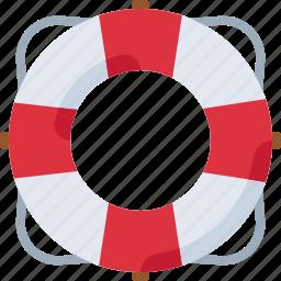 beach, lifebuoy, safety, sea, ship icon