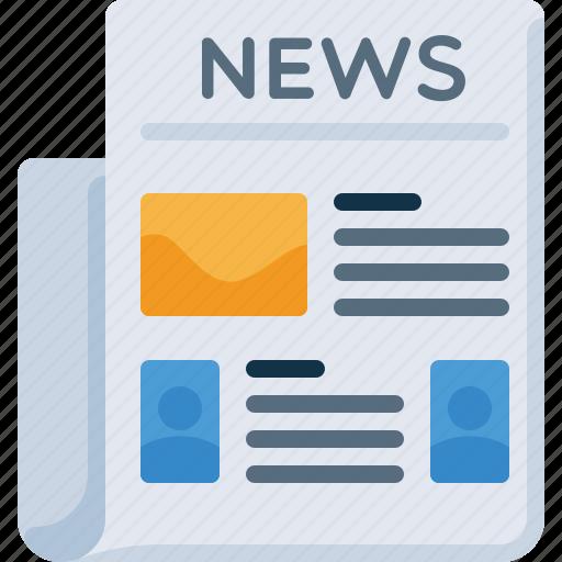news, newspaper, press icon