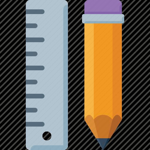 design, graphic, pencil, ruler icon