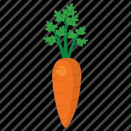 carrot, cook, food, kitchen, orange, vegetable, veggie icon