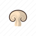 cook, food, kitchen, mushroom, sliced, vegetable, veggie icon