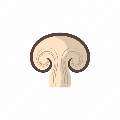 cook, food, kitchen, mushroom, sliced, vegetable, veggie icon