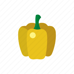 cook, food, paprika, pepper, vegetable, veggie, yellow icon
