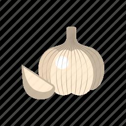 cook, food, garlic, kitchen, vegetable, veggie, white icon