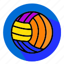 designs, flat, icon, sport, volley, volleyball icon