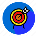 archer, designs, flat, icon, sport icon
