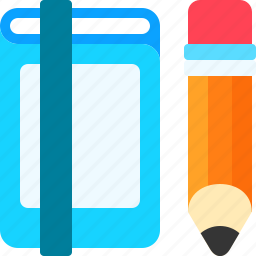 book, document, files, notebook, pencil, read, write icon