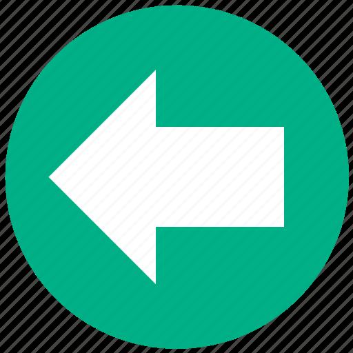 arrow, backward, direction, left, navigation, pointer, undo icon