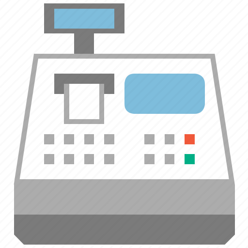 cash register, cashbox, counter, payment, sell machine, shop, shopping icon