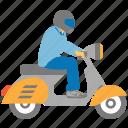 bike courier, biker, chopper, motorbike, motorcycle, rider, scooter