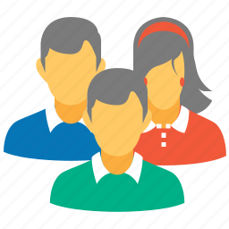 client profiles, company, conference, customer accounts, family, people, user group icon