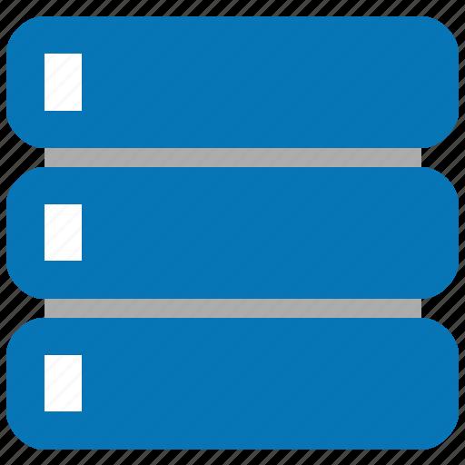 bigdata, computing, data storage, database server, db, rack, repository icon