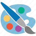 bucket, color palette, colors, draw, drawing, paint, painting icon