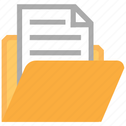 archive, directory, docs, document folder, documents, files, open file icon