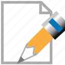 change, document, edit page, modify, pen, pencil, sign icon